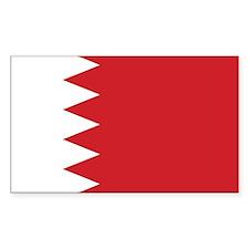 Bahrain Flag Rectangle Decal
