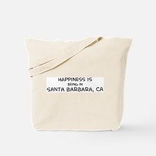 Happiness is Santa Barbara Tote Bag
