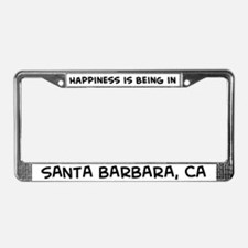 Happiness is Santa Barbara License Plate Frame