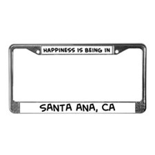Happiness is Santa Ana License Plate Frame