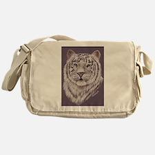 White Tiger Messenger Bag