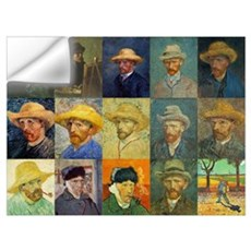 van Gogh Self Portraits Montage Wall Decal