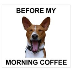 Coffee Yawn Poster