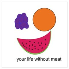Fruit Smiley Poster