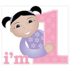 I'm 1 Baby Girl Poster