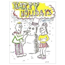 Happy Holidays Snowman! Poster