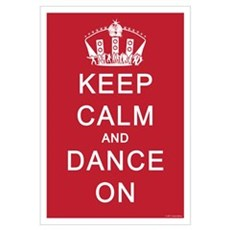 Keep Calm and Dance On (Red) Framed Print