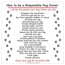 Responsible Dog Owner Poster