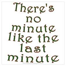 Last Minute Shopping Joke Poster