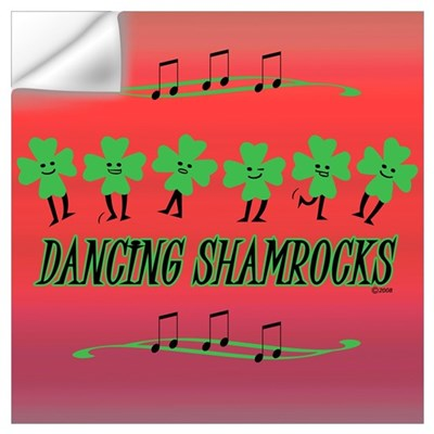 DANCING SHAMROCKS Wall Decal