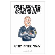 Navy Reenlistment Poster