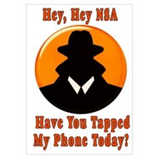 NSA Wiretapping Phone Poster
