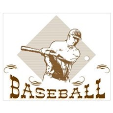 Vintage Baseball Canvas Art Wrapped Stretching Canvas