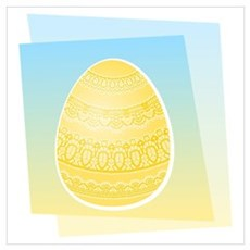 YELLOW EASTER EGG Poster