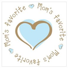 Mom's Favorite Boy Heart Canvas Art