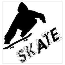 Skate Ollie Sillhouette Poster