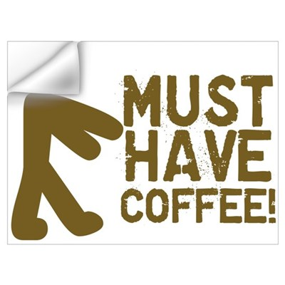 Must Have COFFEE! Zombie Wall Decal