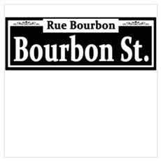 Bourbon St. Sign Canvas Art