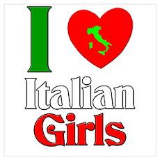 I Love Italian Girls Poster
