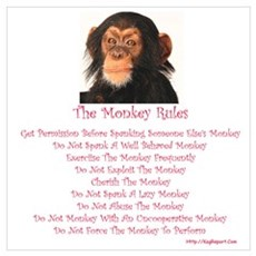 The Monkey Rules with a Monke Poster