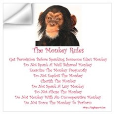 The Monkey Rules with a Monke Wall Decal