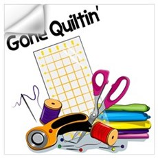 Gone Quiltin' Wall Decal