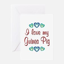 Love My Guinea Pig Greeting Card
