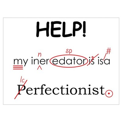 Perfectionist Editor Framed Print