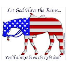 Let God have the Reins Poster