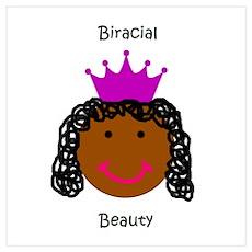 Biracial Beauty/ Biracial Pride Poster