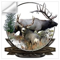 Big game elk and deer Wall Decal