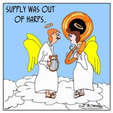 Supply in Heaven Was out of Harps Poster