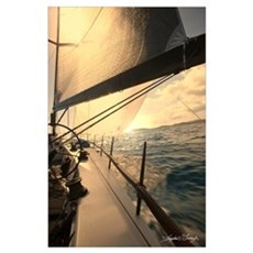 Sailing in St. Thomas Poster