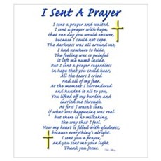 I Sent a Prayer Poster
