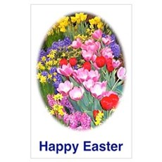 Easter Flowers Poster