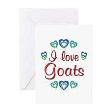 I Love Goats Greeting Card
