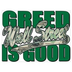 Greed is Good Wall Street Poster