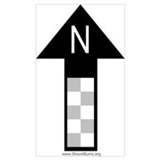 Archaeology north arrow Poster