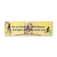 Cycling Race Diva Car Magnet 10 X 3
