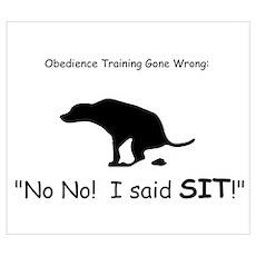 I said sit! Poster