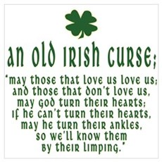 An Old irish curse Poster