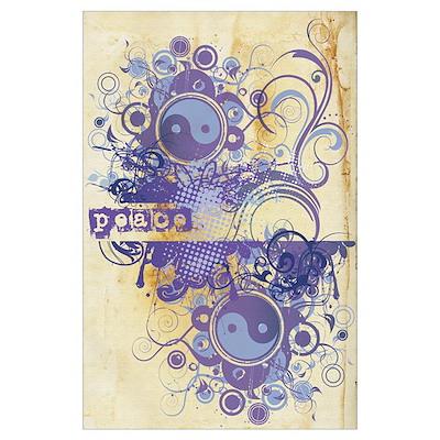 Purple Peace Chakra Poster