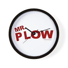 Mr Plow Wall Clock
