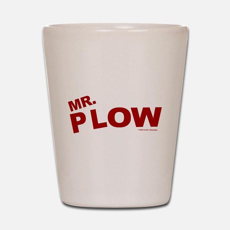Mr Plow Shot Glass