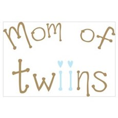 Mom of Twin Boys Framed Print