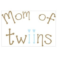 Mom of Twin Boys Poster
