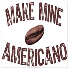 MAKE MINE AMERICANO Framed Print