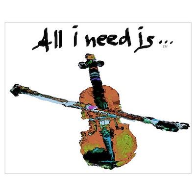 Need Violin Poster