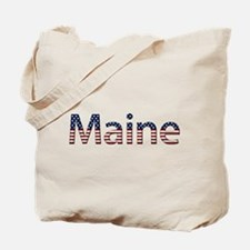 Maine Stars and Stripes Tote Bag