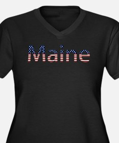 Maine Stars and Stripes Women's Plus Size V-Neck D